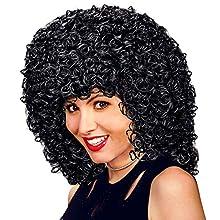 Gabrielle Black Wig for Hair Accessory Fancy Dress