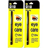 ADS Eye Care Kajal 12Hrs. Extra Black, Long Lasting, Waterproof Kajal (Pack Of Two)