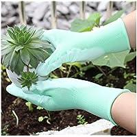 JxucTo Guantes de jardinería Guantes de Cuero PU Guantes de Trabajo Antideslizantes y Transpirables para jardinería y tareas del hogar