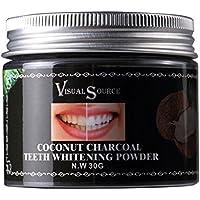 Carbón activado Polvo dental blanqueador natural Polvo de diente de coco Polvo para blanquear los dientes para refrescar la respiración y eliminar rápidamente las manchas de sarro/dientes