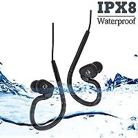 100% impermeable natación auriculares (auriculares) -short Cable, con 3 tipo auriculares para tipo de deportes (P.S: sólo impermeable auriculares sin reproductor de mp3) … (Long cord)