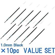 Uni-ball Jetstream punta fina Roller bolígrafos recargas para bolígrafo estándar tipo -1.0mm-Black ink-value Juego de 10