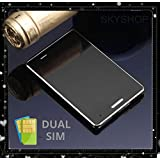 World's Smallest Credit Card Size Mini Low Radiation Dual Sim GSM Cell Mobile Phone Black