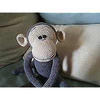 Ernesto, scimmietta amigurumi. Idea regalo per bambini. Giocattolo per bambini amigurumi. Scimmia peluche. pupazzo da collezione
