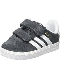 adidas Originals - Zapatillas de cuero para niño gris / blanco talla única