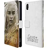 Official HBO Game Of Thrones Daenerys Targaryen Character Portraits Leather Book Wallet Case Cover For Sony Xperia Z2