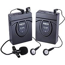 BOYA BY-WM24G 2.4GHZ Micrófono de solapa Profesional Inalámbrico sistema de micrófono para Canon 650D 700D 7D 5D2 5D3 Nikon D800 D700 D600 Sony Panasonic DSLR Cámara,DV, Videocámara