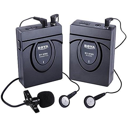 BOYA BY-WM5 2.4GHZ Micrófono de solapa Profesional Inalámbrico sistema de micrófono para Canon 650D 700D 7D 5D2 5D3 Nikon D800 D700 D600 Sony Panasonic DSLR Cámara,DV,