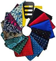 Pocket Squares for men 15 Pack set with Pocket Square Holder in Designer Gift Box Assorted colors Polka dots P