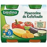 Blédina Mousseline de Ratatouille dès 6 mois 2 x 200g - Lot de 6