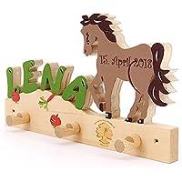 Pferd II - Garderobe mit Name - Geburtsgeschenk, Geburtstagsgeschenk, Weihnachtsgeschenk