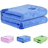 Legendog Toallas Baño, Toallas de Baño, Azul Toallas Baño, Toalla Microfibra Ultra Absorbente para Agua de Secado