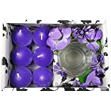 PartyHut Candle Gift Pack Violet Colour Six Candle With Holder