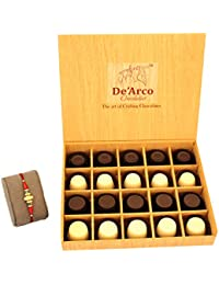 DEARCO CHOCOLATIER CHOCOLATE GIFT BOX, RAKHI CHOCOLATE For BROTHER, Luxury Rakhi Gift, PREMIUM RAKHI GIFT CHOCOLATES... - B073ZMXQW3