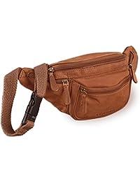 STILORD 'Eliah' Vintage Bolso de Pecho Bolso Bandolera de Cintura con correa Vintage Riñonera para móvil & la cámara digital, de cuero auténtico de búfalo