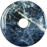 Sodalita, colgante para Cadena y correa de piel azul 30 mm