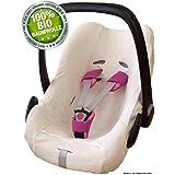 ByBoom® - Funda de verano / funda hecha de 100% algodón rizado orgánico, funda universal para portabebés (Moisés), asiento de coche, por ejemplo, Maxi-Cosi