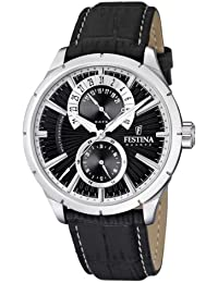 Festina Herren-Armbanduhr Analog Quarz Leder F16573-3