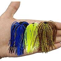 Cebos con faldones de pesca, 10 paquetes, 50 tiras de silicona de calidad de varios colores, para cebos de goma DIY spinnerbait, buzzbaits, cebos de goma, faldones de goma de calamar, material de atadura de moscas, de la marca Shaddock Fishing®