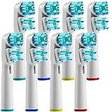 Yumsumg Brosse à dents électrique Têtes de rechange pour double Generic Sb-417a/EB417–4pour Oral B et poignées...