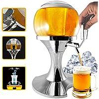 spillatore cerveza esférica con compartimento Hielo de 3.5 L, Infusión Cerveza y otras bebidas,