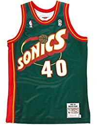 Shawn Kemp Seattle Supersonics Mitchell & Ness Authentic 1995 Road NBA Jersey Maillot