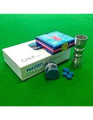 Elkmaster queue de billard ou Snooker billard, craie Billard Molinari & Cuetec bowtie Outil Kit d'accessoires