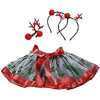 Vestido Niña Baby Girls Kids Christmas Tutu Ballet Faldas Fancy Party Skirt + Hair Hoop Set