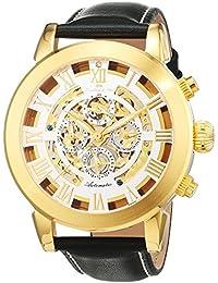 Lindberg & Sons Herren-reloj analógico de pulsera automático de cuero G13103