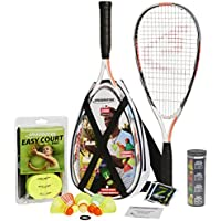Speedminton Set S900, colour rojo/blanco/gris, 400093