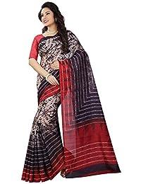 Shree Sanskruti Women's Art Silk Printed Saree With Blouse Piece (BHAGALPURI SAREE 31_Multicolour_Free Size)