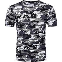 Camiseta Hombre,Longra ☆ Camiseta de Camuflaje Hombre Militares Camisetas Deporte Ropa Deportiva Camisa de