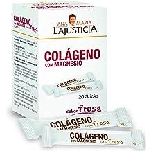 Ana Maria La Justicia - Colágeno con Magnesio, 20 Sticks Sabor Fresa