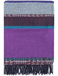 Mens and Ladies Fraas Multi Stripe and Check Cashmink Scarf