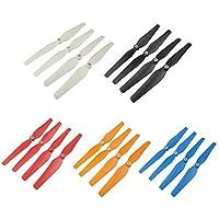 Gazechimp Juego de 20pcs Piezas de Repuesto Hélices Plásticas para Syma X8c X8w X8hw X8hc RC Quadcopter DIY - 5 Colores