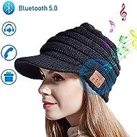 Cappello Bluetooth Music Hat Inverno Lavorato a Maglia Berretto Beanie con cuffia stereo Speaker per Corsa Sport all'Aria Aperta Sci Campeggio Escursionismo Giorno del Ringraziamento Regali di Natale
