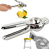 PRILLY ELEGANCE Pure Stainless Steel Lemon Squeezer With Bottle Opener, 2 In 1 Squeezer (Opener + Squeezer) | Length 8.50 Inch