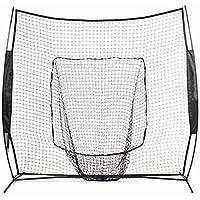 KISSLI Práctica De Béisbol Neto De Béisbol Nets Práctica del Softball Nets De Golf De La Práctica Nets Interior Y Exterior Swing De Golf Redes De Golf Nets De Combate Portátiles (7X7ft),Negro
