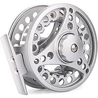 Carrete de pesca de la marca Byste, 3/4/5/6/7/8 WT, de aluminio, disponible en color negro y plateado, D