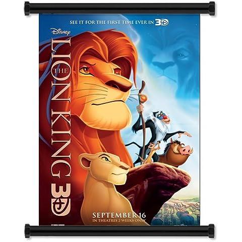 El Rey León 3D de pared Póster de tela en la película Scroll (81,28 cm x 116,84 cm) pulgada{0}