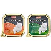 Animonda Feinsten Katzenfutter Adult Mix 1 Geflügel-Kreationen aus 4 Varietäten, 32er Pack (32 x 100 g)