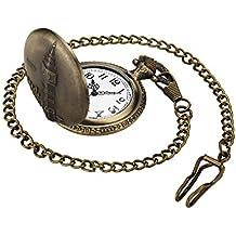 Leaders Dirigentes Retro Reloj de cuarzo reloj de bolsillo antiguo bronce steampunk la cadena con colgante de bolsillo regalo Bigben