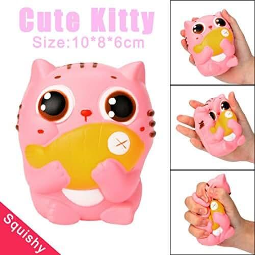 squishys juguete, fundido Power Cute 10cm Kitty gato Squeeze Stress Relief Super Suave lentamente Rising, Soft squishies kawaii de descompresión toy para niños & Adultos San Valentín Regalo
