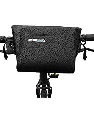 Bolsa impermeable para manillar de bici de BTR para usarse en todo tipo de clima con correa extraíble, ajuste universal para cualquier bicicleta y 6 parches de reparación GRATIS