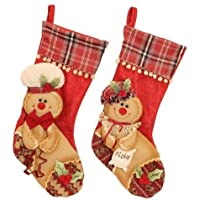 Christmas @ Thumpers Enchante Collection - Personaggi realizzati a mano, a forma di omino di pan di zenzero, Gingerbread stocking set