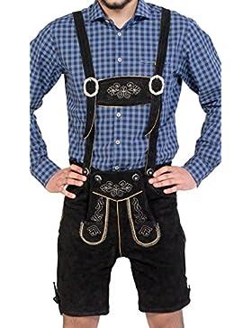 Almwerk Herren Trachten Lederhose kurz Modell Sepp in schwarz, braun und hellbraun