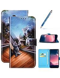 Robinsoni Funda Compatible con Samsung Galaxy J6 Plus 2018 Libro Billetera Funda Galaxy J6 Plus 2018 Funda Cuero Kickstand Funda Cartera Funda Cuero Silicone Funda Flip Carcasa Proteccion 360 Funda