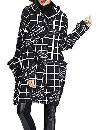 ELLAZHU Femme Automne/Hiver Manche Longue Bouton Capuche Poches Jacket Manteaux GY739 A