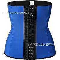 HL-Abdomen con 9 huesos y goma Corset Corset de correa de plástico con abdomen posparto con movimiento de fitness,blue,XXL