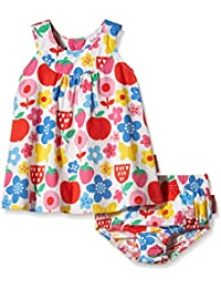 Toby Tiger Baby Girls' Butterfly Flower Summer Party Dress